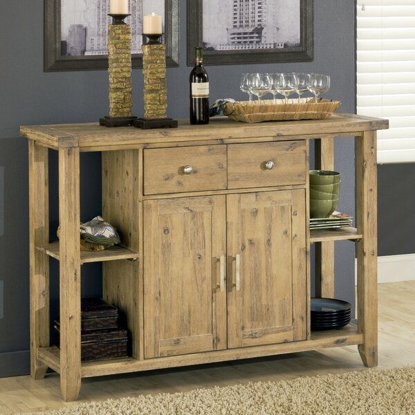 Lansing 2 Drawer Wooden Buffet Table by Millwood Pines
