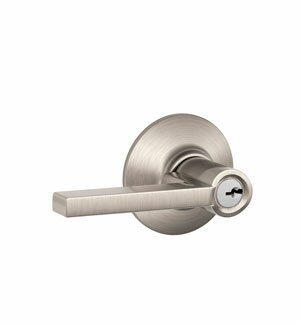 Latitude Lever Keyed Entry Lock by Schlage