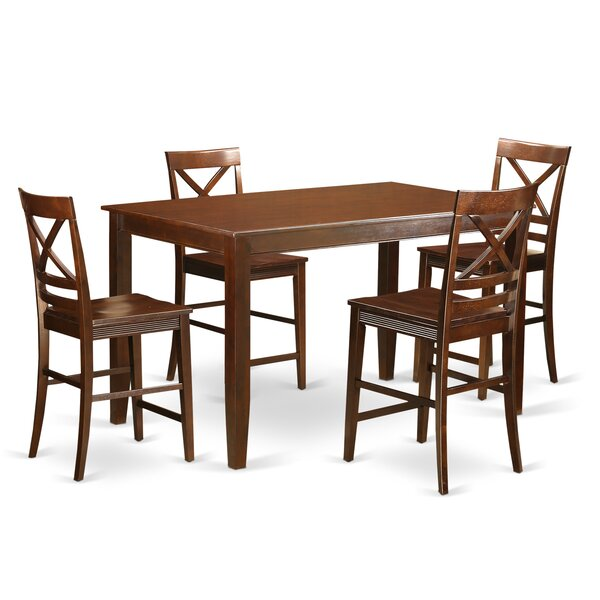 Araminta 5 Piece Counter Height Pub Table Set by Alcott Hill Alcott Hill