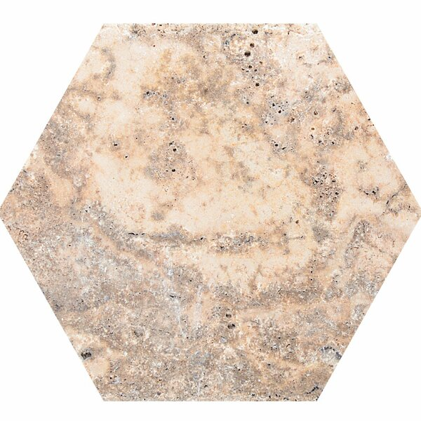 Scabos 8 x 8 Travertine Field Tile in Beige by Parvatile