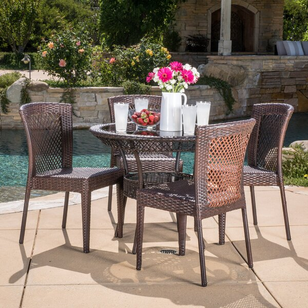 Tufts 5 Piece Dining Set by Highland Dunes