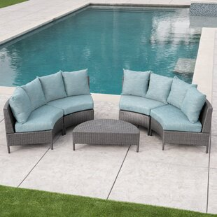 Brownfield 5 Piece Sectional Set with Cushions By Highland Dunes