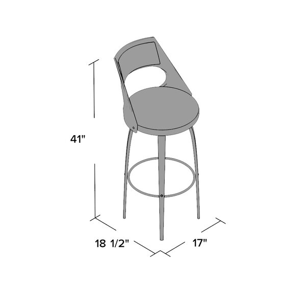 Kistler Swivel Bar Stool by Wade Logan