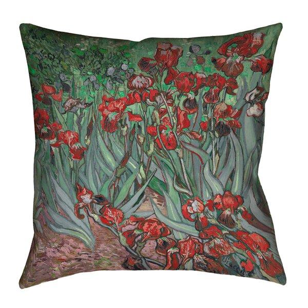 Vincent Van Gogh Irises Outdoor Throw Pillow by ArtVerse