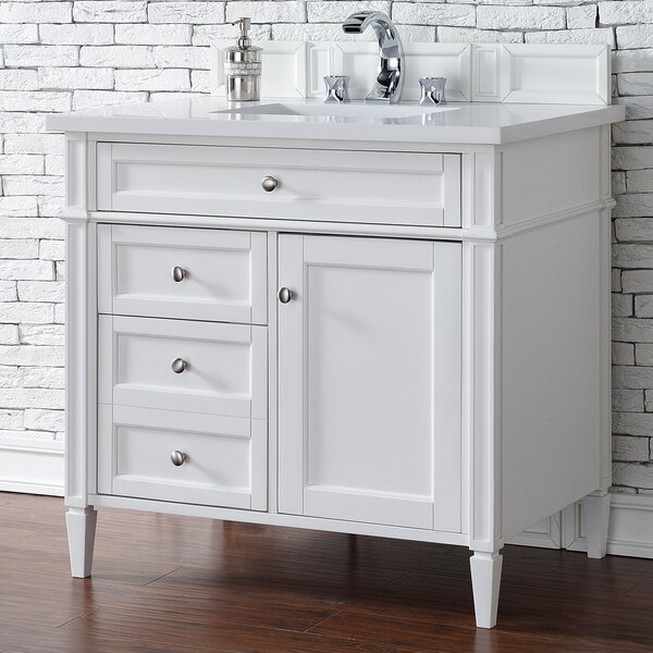 Deleon 36 Single Cottage White Bathroom Vanity Set by Darby Home Co