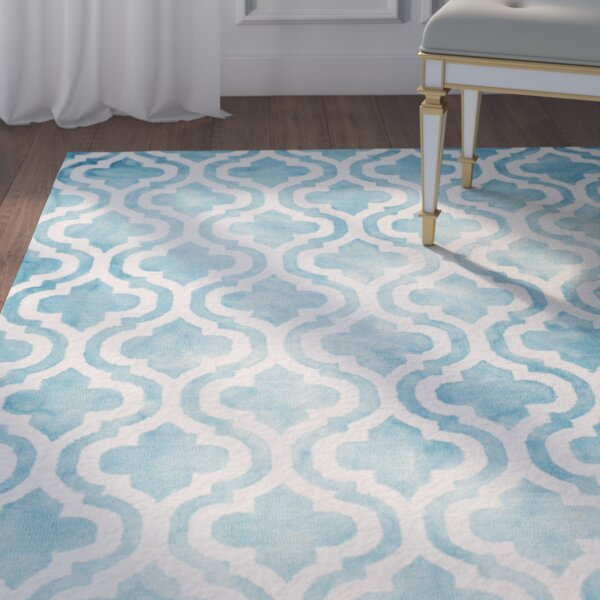 Bettina Tufted Wool Blue/Ivory Area Rug by Willa Arlo Interiors