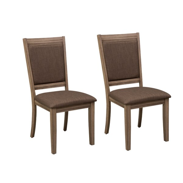 Loggins Upholstered Dining Chair (Set of 2) by Gracie Oaks