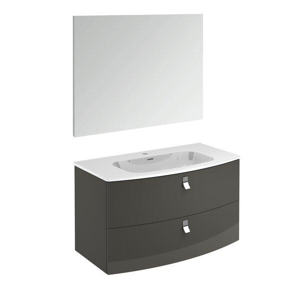 Durham Contemporary 39 Single Bathroom Vanity Set with Mirror