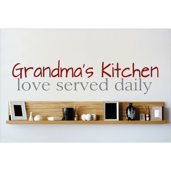 Grandmas Kitchen Love Served Daily Wall Decal by Design With Vinyl
