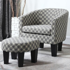 Wharton Barrel Chair and Ottoman by Red Barrel Studio