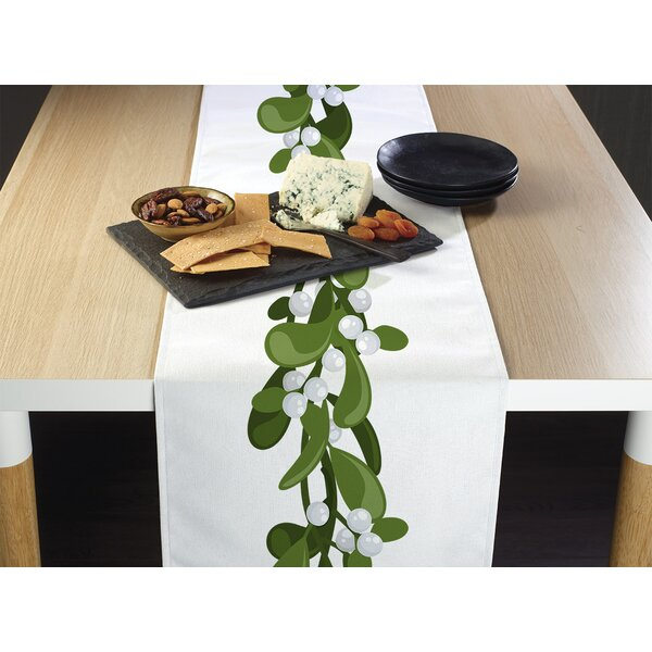 Estill Mistletoe Border Table Runner by The Holiday Aisle