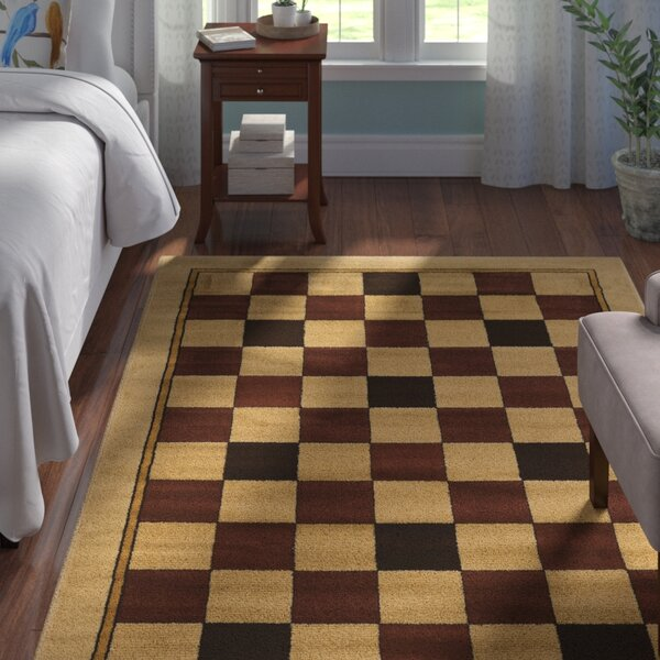 Alica Boxes Brown/Beige Area Rug by Andover Mills