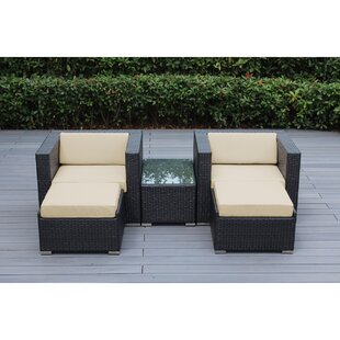 Baril 5 Piece Conservation Set with Cushions By Wade Logan