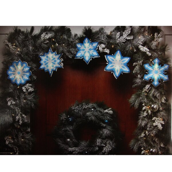 Shimmering Snowflake Christmas Light Garland with 10 Mini Light by Northlight Seasonal