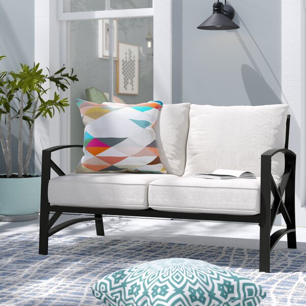 Emmett Loveseat with Cushions by Ivy Bronx