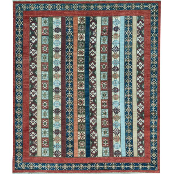 Aryana Oriental Hand-Knotted Wool Red Area Rug