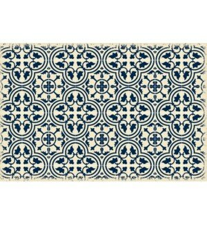 Rogelio Quad European Design Blue/White Indoor/Outdoor Area Rug by Charlton Home