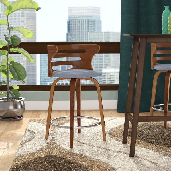 Baehr 23.5 Swivel Bar Stool by Wade Logan