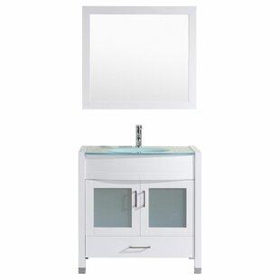 Peterman Modern 36 Single Bathroom Vanity Set with Mirror by Orren Ellis
