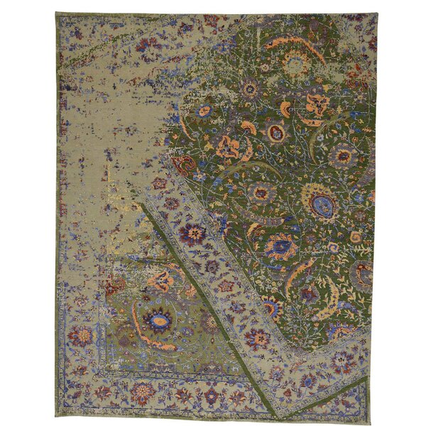 One-of-a-Kind Kendrick Hand-Knotted Blue Area Rug by Canora Grey