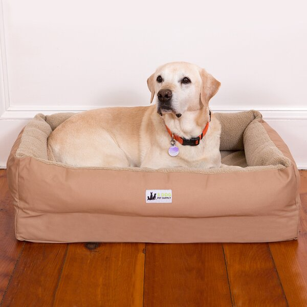EZ Wash Fleece Lounger Dog Bed with Memory Foam by 3 Dog Pet Supply