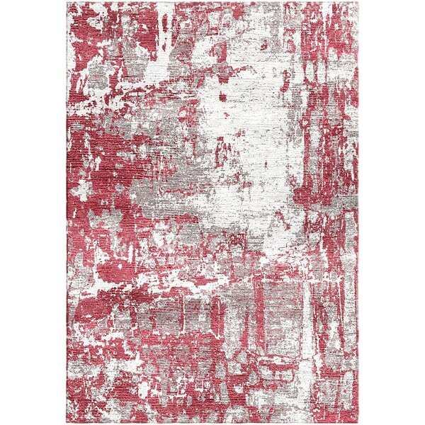 Ashford Handloom Red/Ivory Area Rug by Ivy Bronx