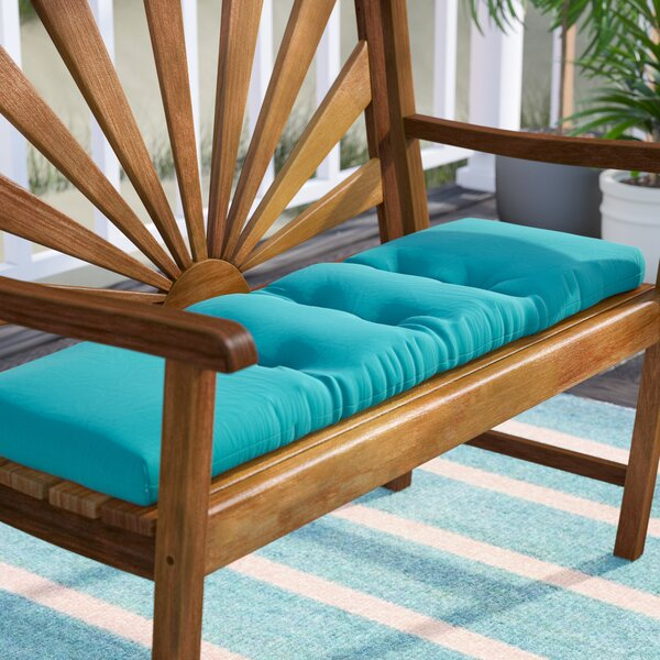 Tufted Indoor/Outdoor Bench Cushion by Highland Dunes