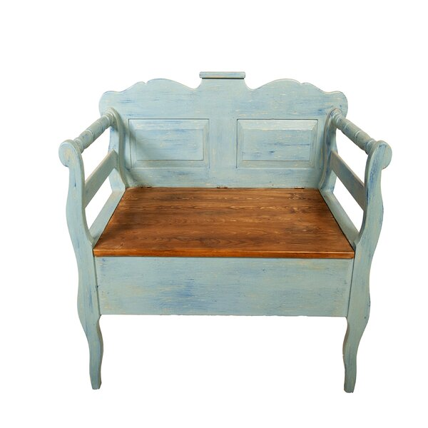 Eglantine Wood Storage Bench by August Grove