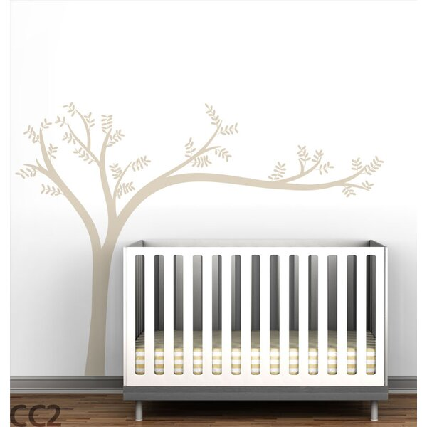 Trees Monochromatic Leaning Wall Decal by LittleLion Studio