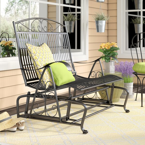 Snowberry Iron Double Patio Glider Bench by Three Posts