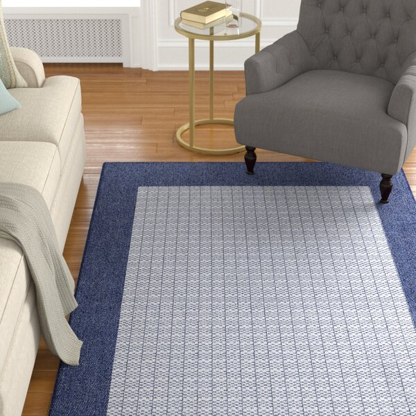 Fairhill Checkered Field Blue/Gray Indoor/Outdoor Area Rug by Charlton Home