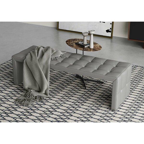 Broad Genuine Leather Bench by Modloft