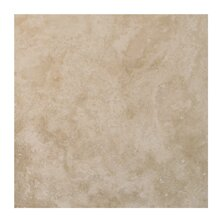 Light Filled 4 x 4 Travertine Field Tile in Honed by Seven Seas