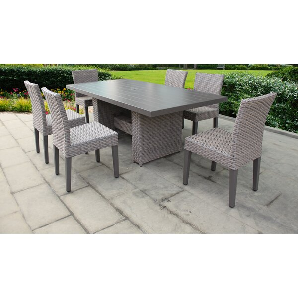 Monterey 7 Piece Outdoor Patio Dining Set with Cushions by TK Classics