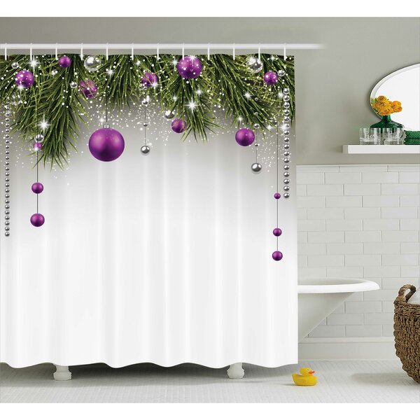 Christmas Tree Decorations Shower Curtain By The Holiday Aisle.