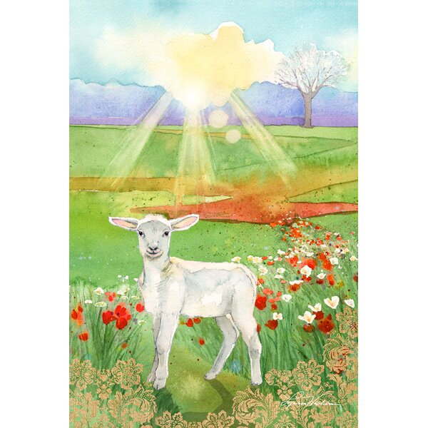 Lamb at Dawn 2-Sided Garden flag by Toland Home Garden