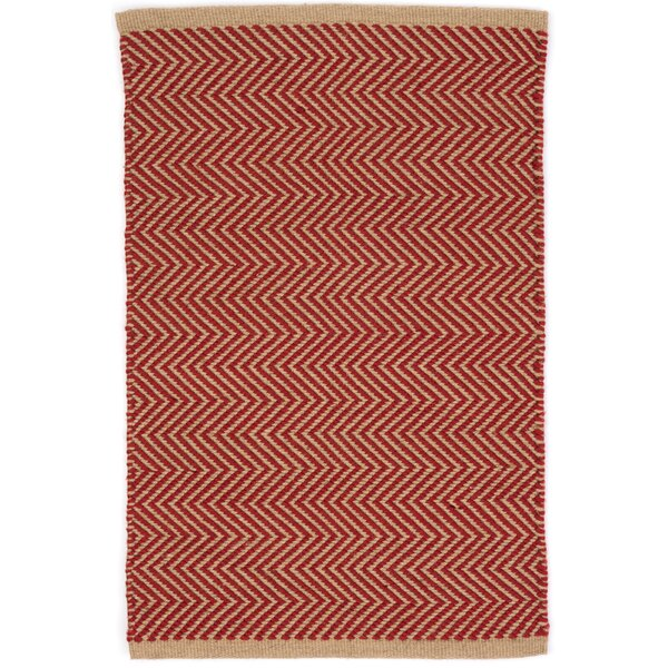 Arlington Hand Woven Red Indoor Outdoor Area Rug By Dash And Albert Rugs.
