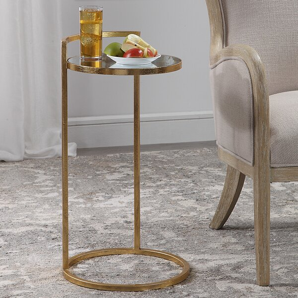 Review Jazmyne Glass Top C Table End Table