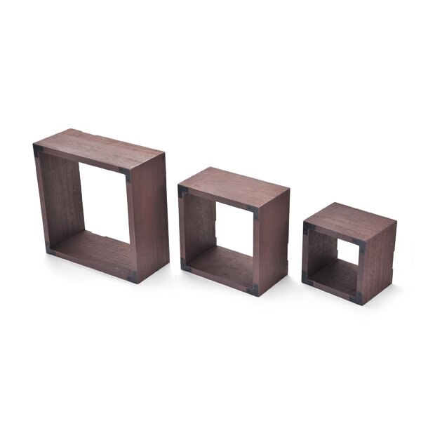 3 Piece Wood Shelves Set by Melannco