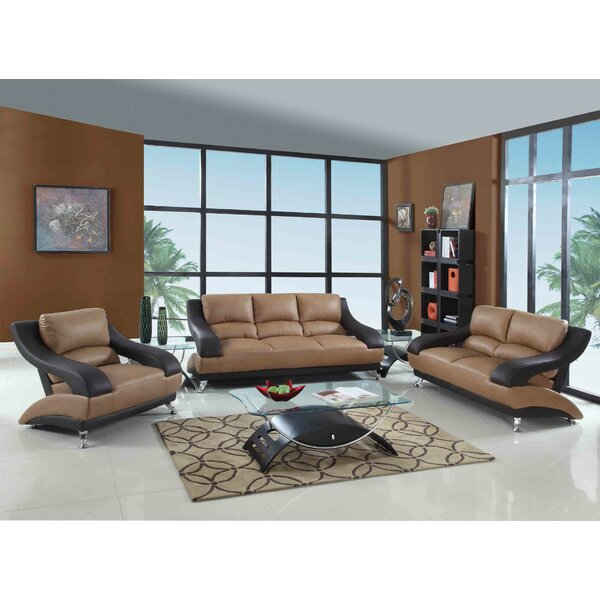 Henshaw Luxury 3 Piece Living Room Set by Latitude Run
