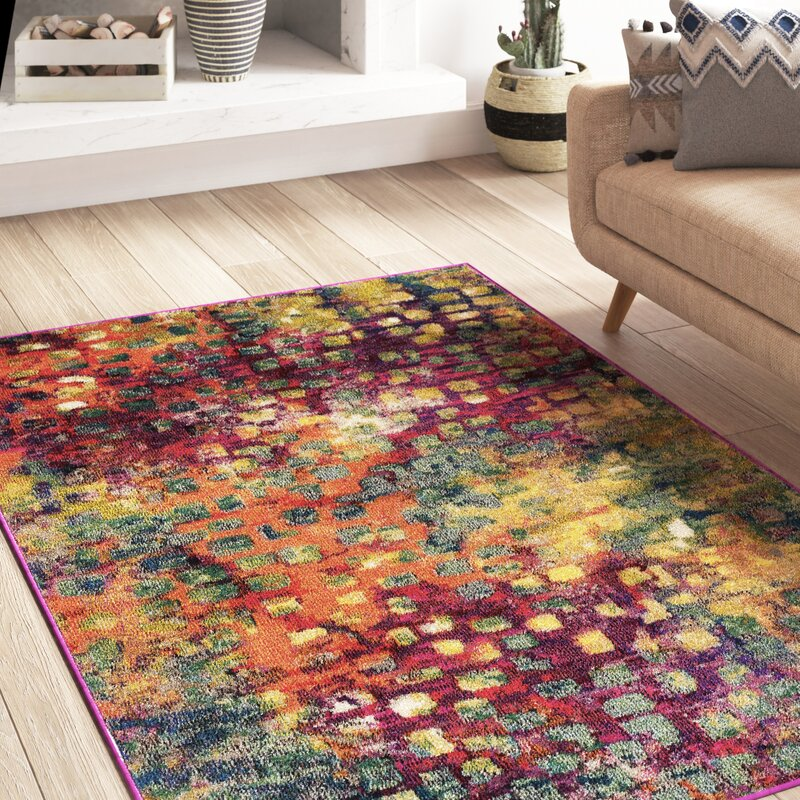 Pink Green Yellow Area Rug Reviews