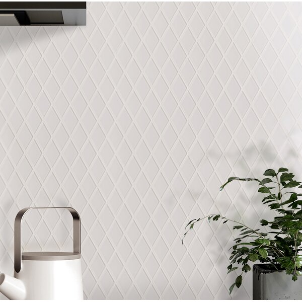 Quality Value Series 1.25 x 2.12 Glass Mosaic Tile in Glossy White by WS Tiles