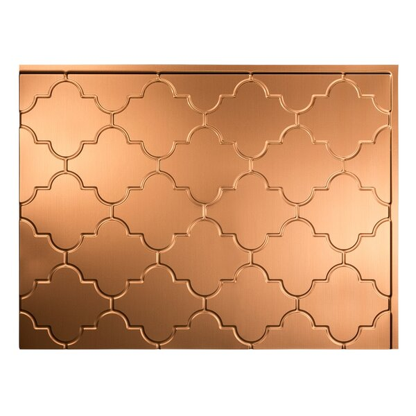Monaco 1.5 ft. x 2 ft. PVC Backsplash Panel in Polished Copper by Fasade
