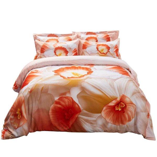 Westlund April Floral Bedding Reversible Duvet Cover Set