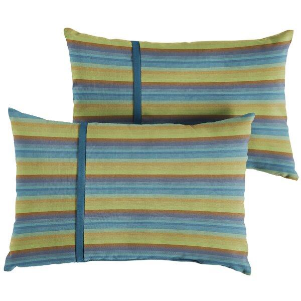 Vanhoose Indoor/Outdoor Lumbar Pillow (Set of 2) by Red Barrel Studio