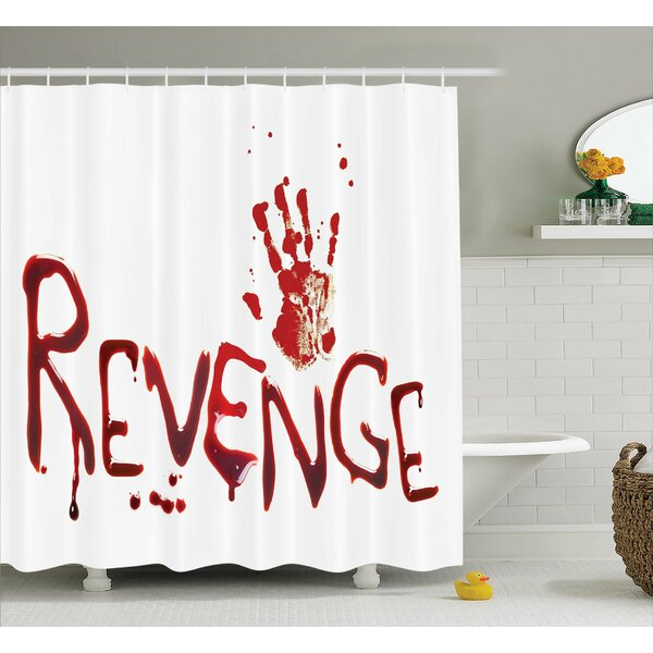 Bloody Handprint with Blood Shower Curtain by Ambesonne