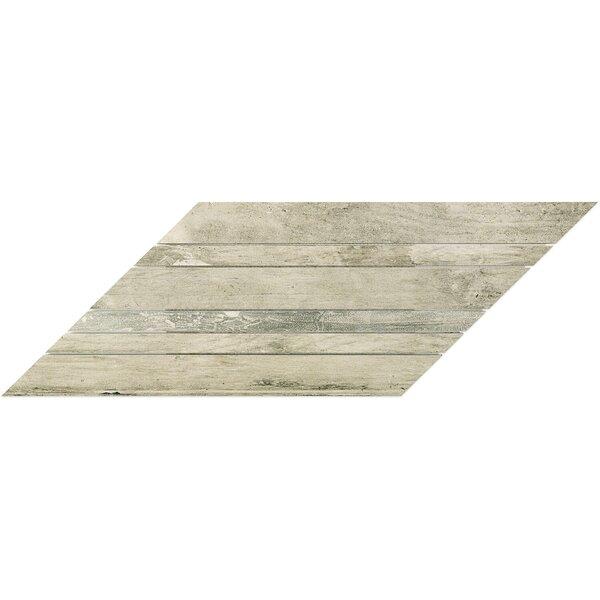 Lucky Chevron 9 x 18 Porcelain Wood Look Tile in Greige by Splashback Tile