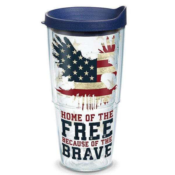 American Pride Home of the Free 24 oz. Plastic Travel Tumbler by Tervis Tumbler