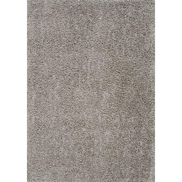 Kourtney Soft Shag Light Gray Area Rug by Gracie Oaks