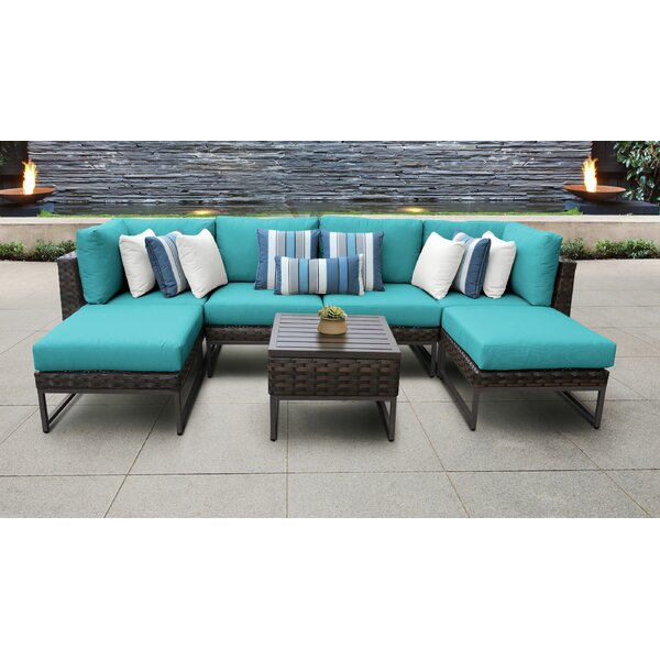 Mcclurg 7 Piece Sectional Seating Group with Cushions by Darby Home Co